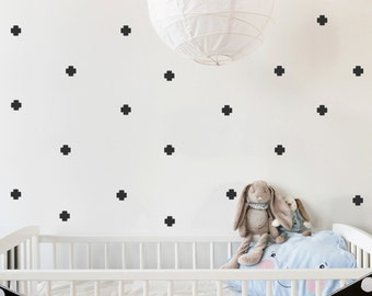 Plus sign Wall Stickers, Baby Wall Decal, Removable Stickers, Kids Wall Decal, Baby Nursery Wall Decal, Murals, Modern Nursery Wall Decal