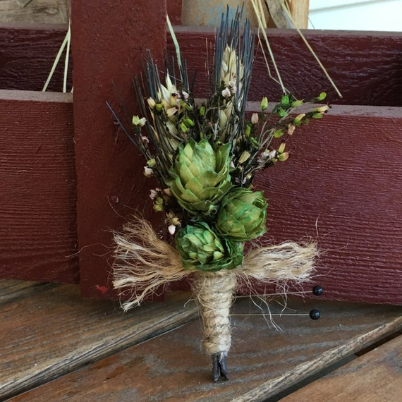 Hops & Wheat boutonnière wedding package 6 @ 75.00