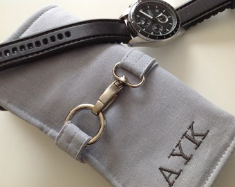Personalize Your Watch Roll, Great Gift For Groomsmen
