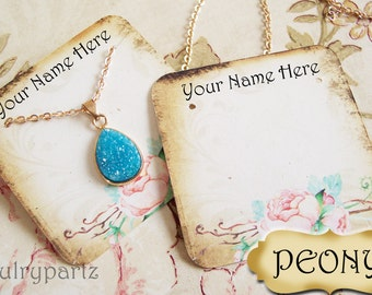 24•PEONY•Necklace and Earring Cards•Jewelry cards•Necklace Card•Display•Earring Holder•Necklace Holder