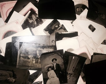Giant Lot of 1000 (ONE THOUSAND!) Antique Tintype Photos