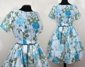 L'Aiglon Flower Dress - Full skirt - semi-sheer -Med