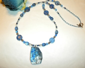 One Of A Kind And Hard To Find Blueberry Quartz Necklace