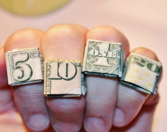 Origami Money Ring - Select your denomination