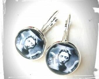 Doctor Who Inspired Glass Tile Earrings