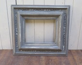 Reserved - Chunky Dark Gray Picture Frame Cottage Chic Distressed