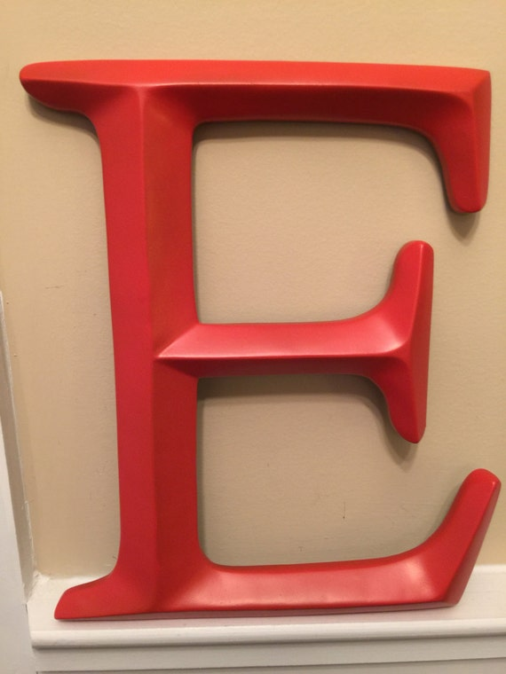 Wall decor large letter shabby chic wall decor new item for Large letter e for wall