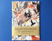 Pocket Notebook, Jotter, Mini Sketchbook | Crow Pattern