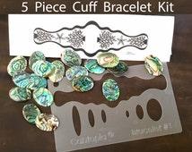 5 Piece Cuff Kit with Rachael Wendel Coral & Starfish Design