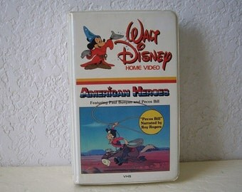 Walt Disney's American Heroes, 1940s. RARE,Uncut, Unedited Version VHS in White Clamshell Case. Great Condition.