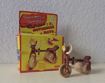 Rare Flintstones Motorbike in original box. 1985