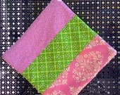 Hot Pad in Pinks and Greens, Lily Pulitzer Style