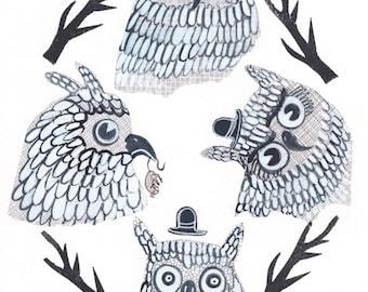 Al's Many Moods - Artwork by Christina Rowe - 8x10 Storybook Art Print - Mangoseed