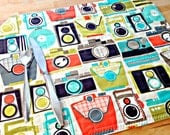 Quilted Placemats, Retro Placemats, Vintage Cameras, Retro Decor, Fabric Placemats, 1950's Style, Vintage Placemats, Mid Century Placemats
