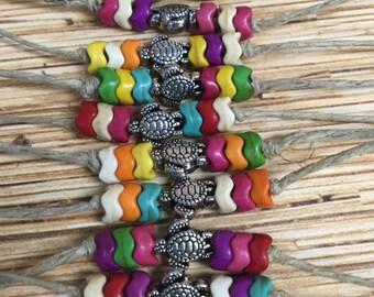 Hemp Sea Turtle Anklet Bracelet