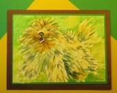 "KOMONDOR DOG CARD, Original Handmade Watercolor (""Blank Inside"")"