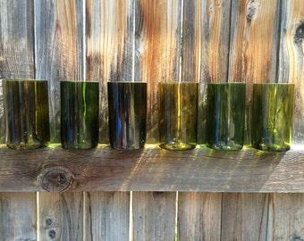 Green Repurposed Pint Glass (1)