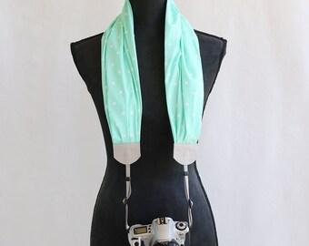 scarf camera strap mint x - BCSCS064