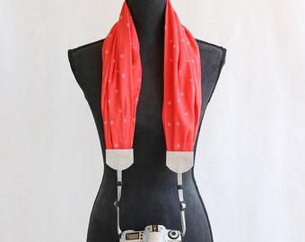 scarf camera strap watermelon - BCSCS068