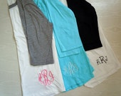 Women's Monogrammed Raglan Shirt Baseball Shirt 3/4 sleeve Personalized MANY many colors to choose from PRE-ORDER