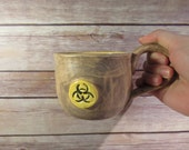 Brown and Yellow Biohazard mug