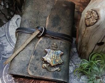 Wizard's Handbook - leather bound blank journal