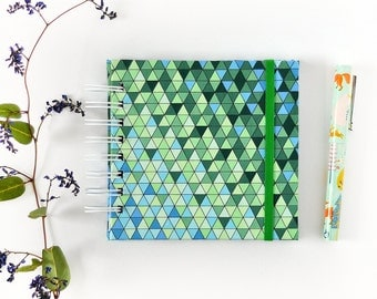 Fabric hardcover photo album, scrapbook album, Instagram brag book // COOL TRIANGLES