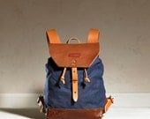 Sandy Rucksack - Navy Waxed Canvas