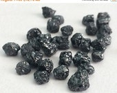 51% ON SALE WHOLESALE 25 Pcs Black Diamonds, Black Rough Diamond, Natural Black Raw Diamond, Uncut Diamond, Conflict Free 3.5-5mm - Ds111