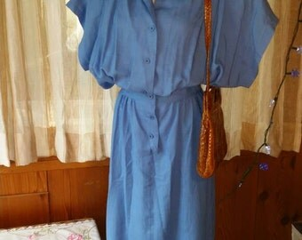 Blue home made dress 40's style