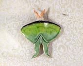 Luna Moth Ceramic Wall Hanging