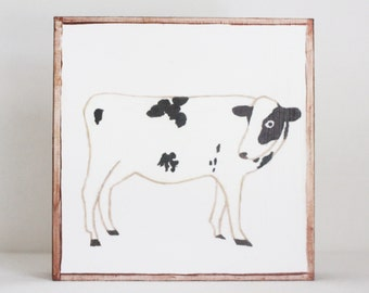 farmhouse nursery art, cow print, copper nursery decor, barnyard animals, animal prints, nursery decor, farm nursery, redtilestudio