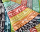 ORGANIC Fabric Interlock KNIT Certified Cotton, Birch fabric, The Quill Stripe Multi Knit textile from Serengeti Interlock knits collection
