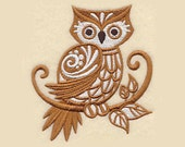 Brown Owl Tea Towel | Embroidered Towel | Embroidered Tea Towel | Personalized Kitchen Towel | Embroidered Kitchen Towel | Hand Towel