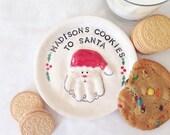 Small Christmas Cookie Plate - Santa Plate  - Plate - Personalized Christmas Plate - Baby Christmas Plate - Cookie Plate - Santa Cookies