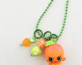 Shopkin April Apricot Season 4 Charm Necklace