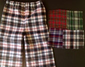 Baby Boys Classic Fit Plaid Brush Flannel Pants