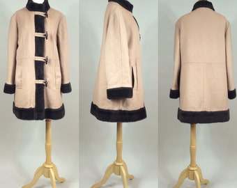 60s Toggle Coat / Vintage 1960s Wool Blend Coat / Vintage Toggle Coat/