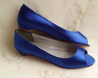 Blue Wedding Shoes Blue Bridal Shoes Blue Bridesmaid Shoes - Over 100 Colors To Pick From