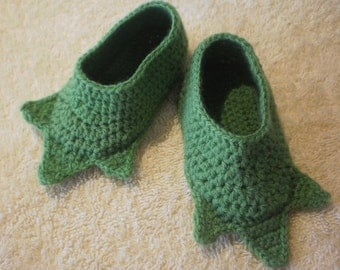 Funny baby yoda slippers, 3-6 months size ( made to order ).
