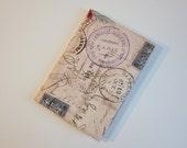 Passport Cover Sleeve Case Holder  Cotton Travel Stamps destinations Paris Rome