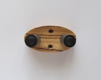 Zebrawood ukulele wall mount hanger, natural finish