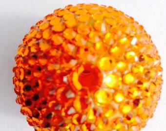 Tangerine EOS lip balm with Swarovski crystals