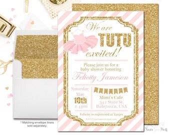 Tutu Baby Shower Etsy, Baby Shower Invitations