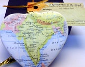 India Map Christmas Ornament, Your Special Place in the Heart