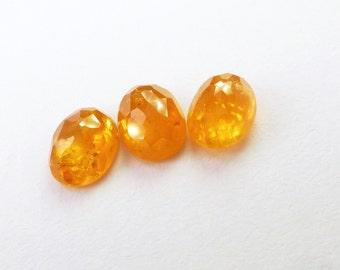 Natural Spessartite Garnet. Fanta Orange. Micro Facet Cabochon. Oval. 1 pc. 2.0 cts. 5x7 mm diameter (GA927)