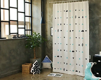 Mountains Trees  Black Out Wide Fabric Panel for Curtains  (59 inches x 98 inches) 76438