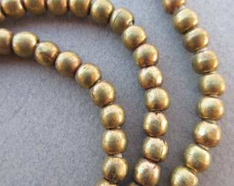 Old African Brass Spacer Beads