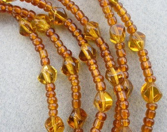 African Amber Glass Beads