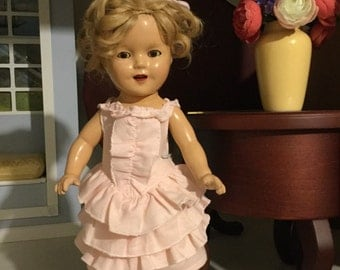 Replica of Shirley Temple's Little Colonel dress fits 13in Shirley